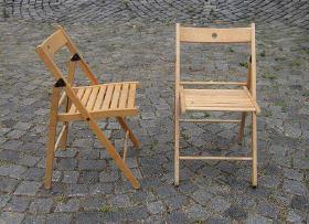 Skládací dřevěné židlicky
