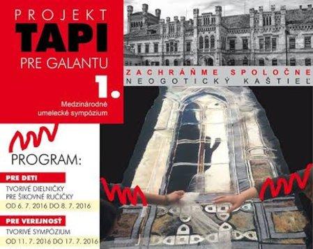 PROJEKT TAPI PRE GALANTU 1. - Medzinárodné umelecké sympózium
