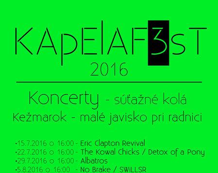 KAPELAF3ST 2016 - Súťažné kolá