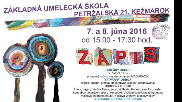 ZUŠ Petržalská - ZÁPIS