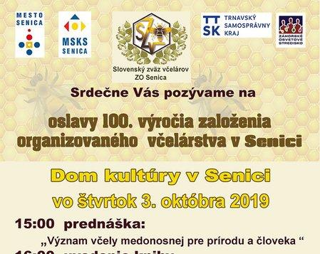 Oslavy 100.výročia založenia organizovaného včelárstva v Senici