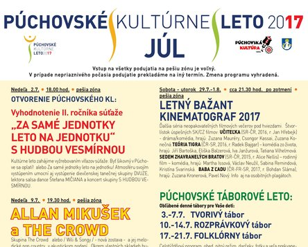 PÚCHOVSKÉ KULTÚRNE LETO 2017 - JÚL