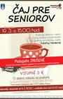 ČAJ pre seniorov - MAREC 2020