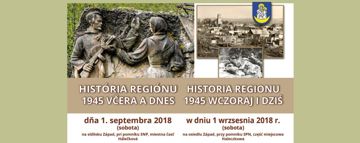 História regiónu  1945 včera a dnes