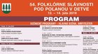 Folklórne slávnosti pod Poľanou 2019