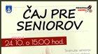 ČAJ PRE SENIOROV - október 2018