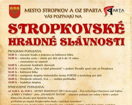 Stropkovské hradné slávnosti 2018