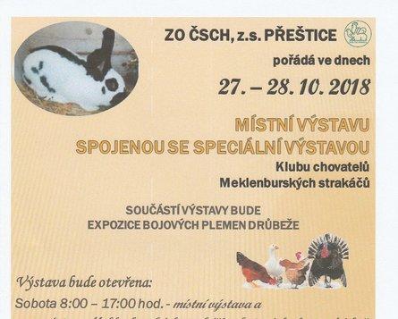 Místní výstava ZO ČSCH - chovatelé