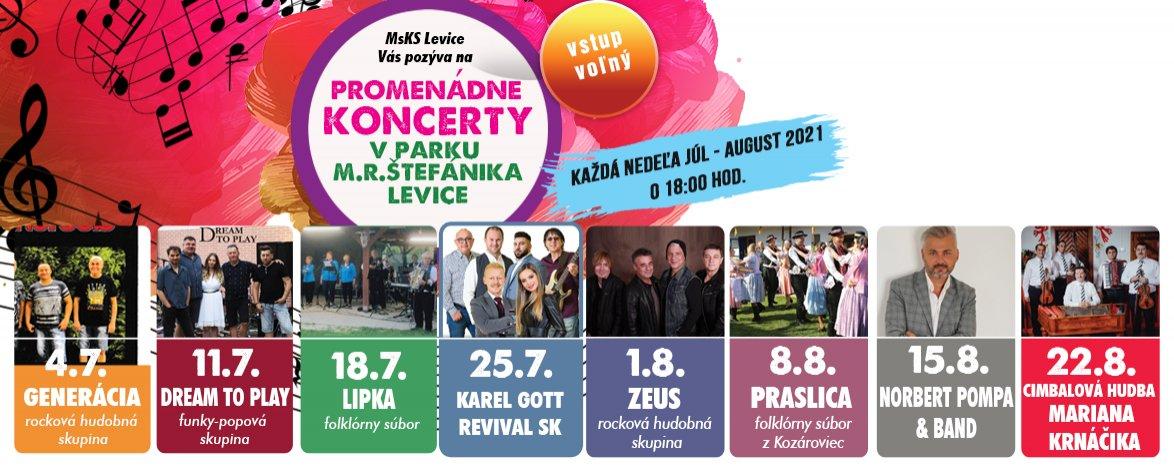 Promenádne koncerty v Parku M. R. Štefánika