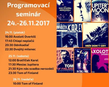 Programovací seminár filmových klubov (nedeľa)