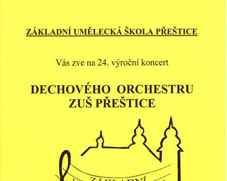 24. výroční koncert Dechového orchestru ZUŠ Přeštice