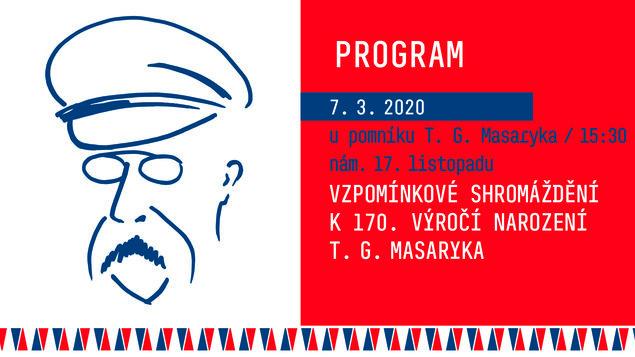 Vzpomínkové shromáždění k 170. výročí narození T. G. Masaryka