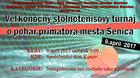 Veľkonočný stolnotenisový turnaj o pohár primátora mesta Senica