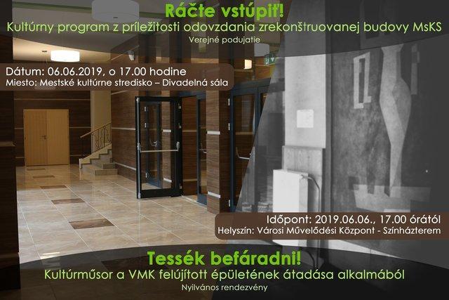 e98c19f68 Kultúrny program z príležitosti odovzdania zrekonštruovanej budovy MsKS