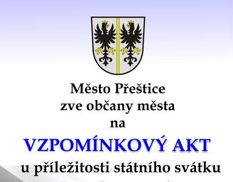 Vzpomínkový akt při příležitosti státního svátku Den vzniku samostatného Československého státu