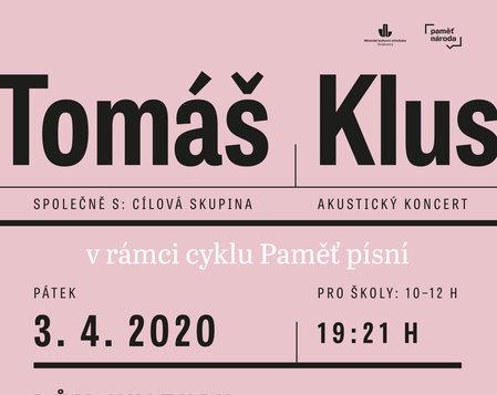 TOMÁŠ KLUS A CÍLOVÁ SKUPINA - akustický koncert