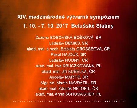XIV.Medzinárodné výtvarné sympózium - Vernisáž v divadle