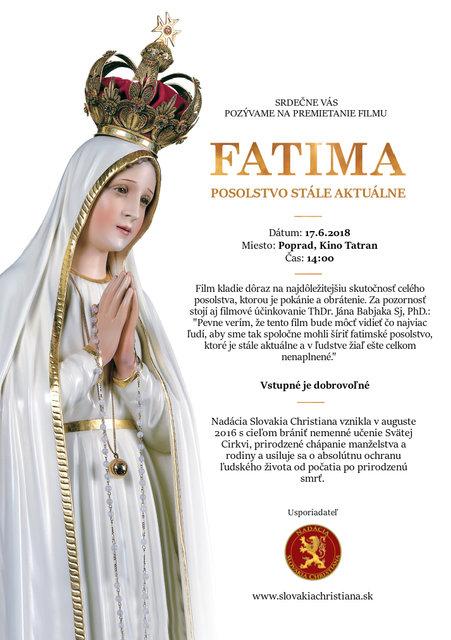 2db59e99f3 Fatima- posolstvo stále aktuálne – program a vstupenky online
