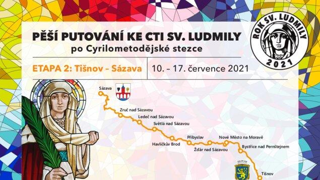 Pěší putování na Vysočině ke cti Sv. Ludmily