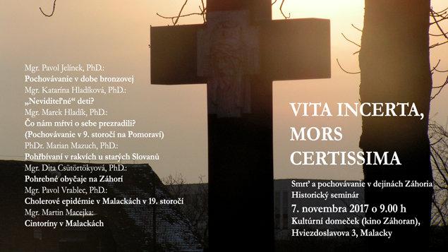 Historický seminár - Smrť a pochovávanie v dejinách Záhoria