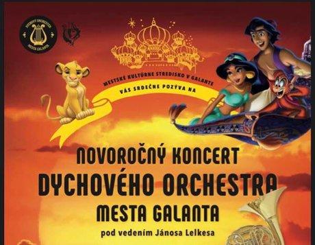 Novoročný koncert Dychového orchestra mesta Galanta 2020