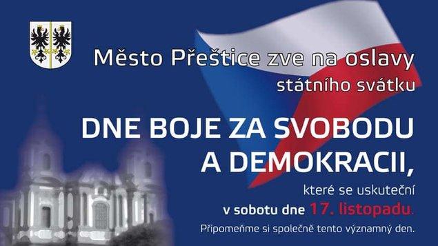 Oslava státního svátku dne boje za svobodu a demokracii