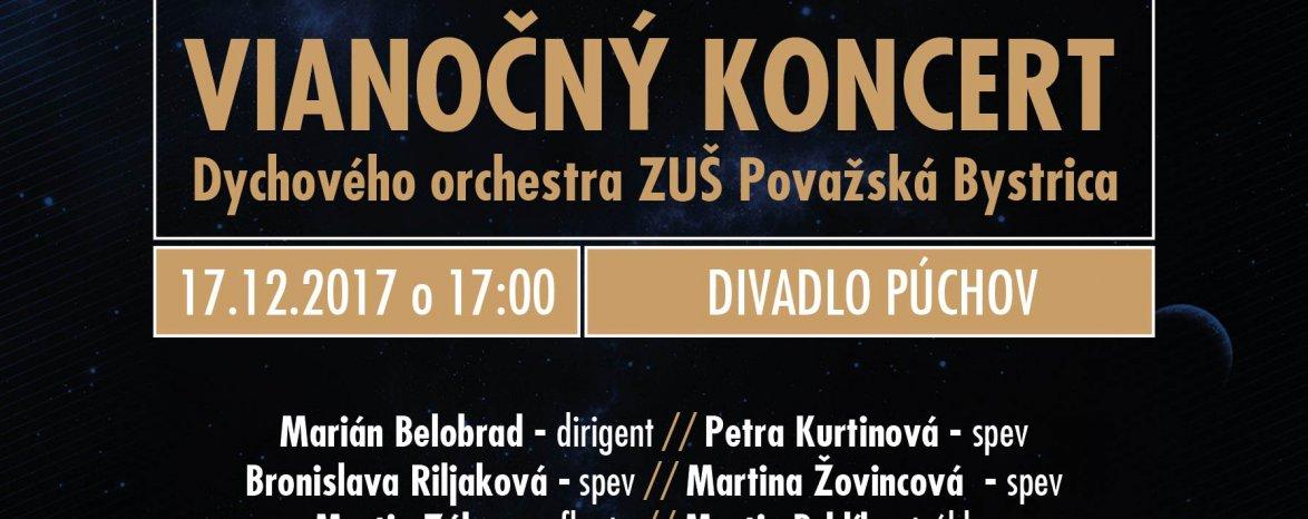 Vianočný koncert dychového orchestra ZUŠ Považská Bystrica