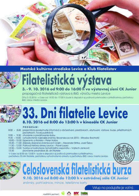 92ee7f8d3 33. Dni filatelie Levice / Celoslovenská filatelistická burza ...