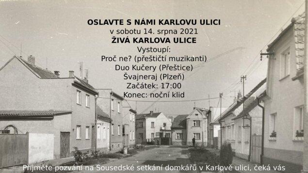 Živá Karlova ulice - oslavte s námi Karlovu ulici