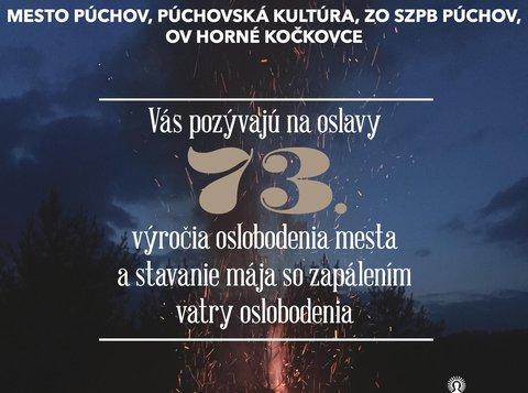 73. výročie oslobodenia mesta, stavanie mája, vatra oslobodenia