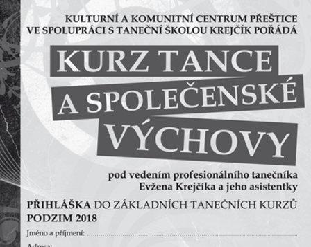 Kurz tance a společenské výchovy 2018
