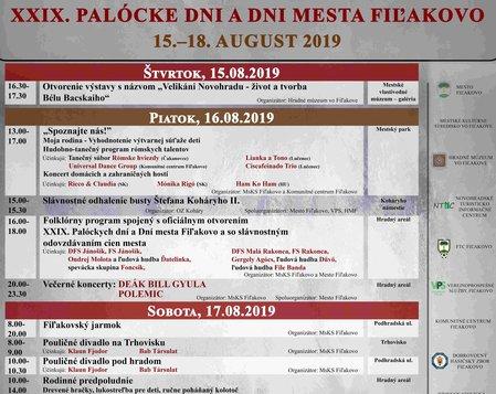 XXIX. Palócke dni a Dni mesta Fiľakovo