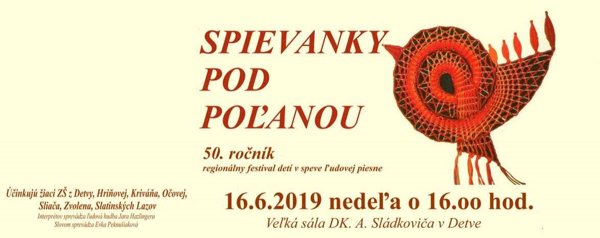 SPIEVANKY POD POĽANOU - 50. ročník