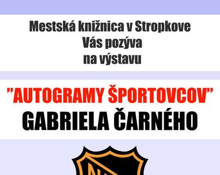 Autogramy športovcov Gabriela Čarného