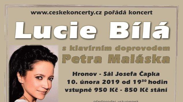 Lucie Bílá s klavírním doprovodem Petra Maláska