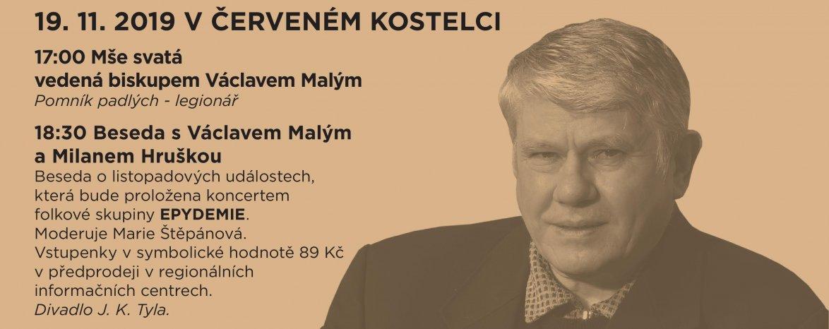 Beseda s Václavem Malým a Milanem Hruškou