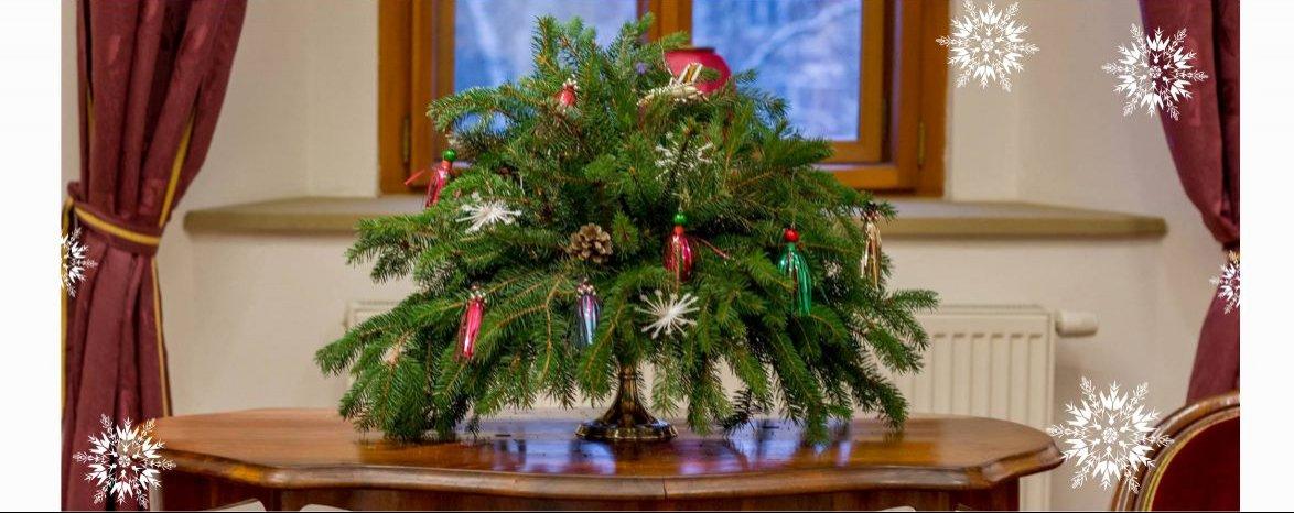 Prehliadky vianočne vyzdobeným kaštieľom