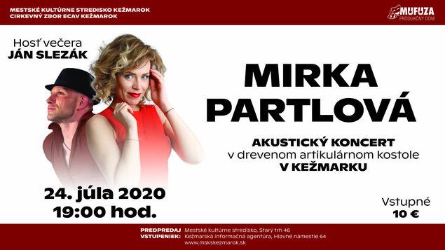 Akustický koncert Mirky Partlovej
