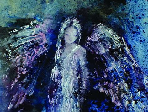Modré z nebe - vernisáž vánoční výstavy malířky Václavy Macků