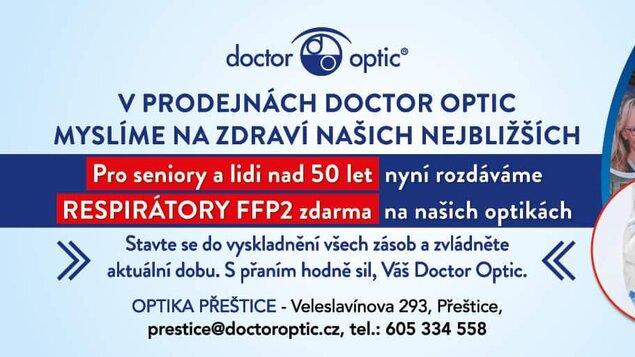 V prodejnách Doctor Optic myslíme na zdraví našich nejbližších
