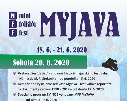 MFF MYJAVA 2020 Sobota
