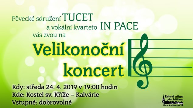 Velikonoční koncert TUCET + IN PACE
