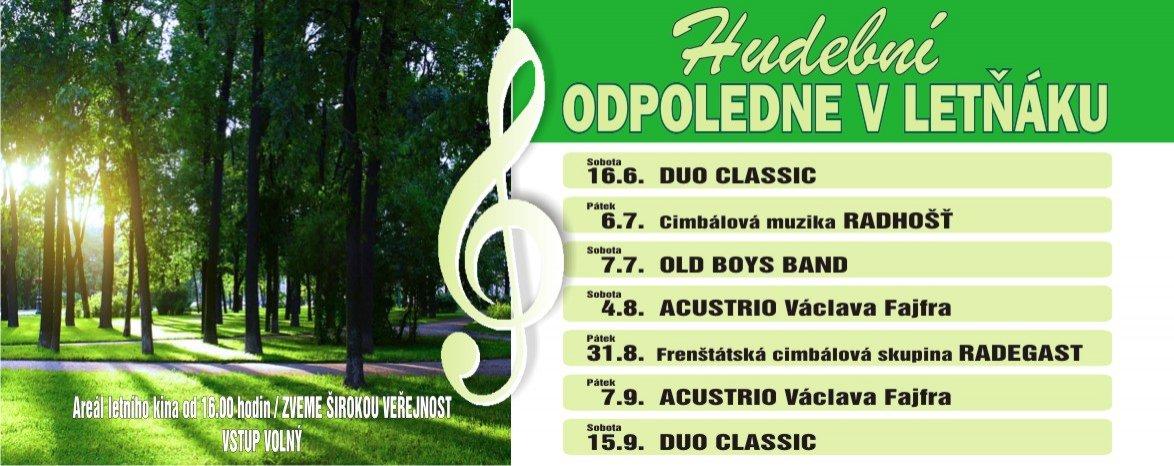 Hudební odpoledne v Leťnáku