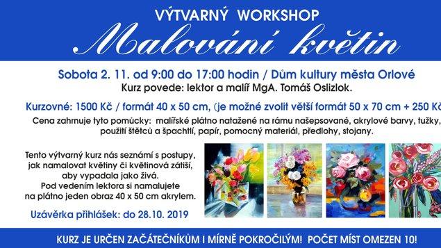 """Výtvarný workshop """"Malování květin"""""""