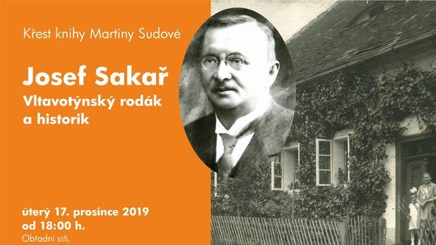 JOSEF SAKAŘ - křest knihy Martiny Sudové