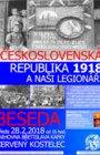 ČESKOSLOVENSKÁ REPUBLIKA 1918 a naši legionáři