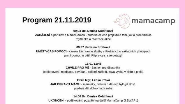 Mama camp - 21.11.2019