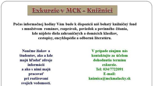 Exkurzia v MCK Knižnici