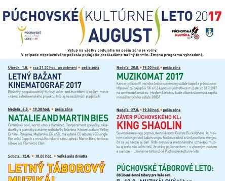 PÚCHOVSKÉ KULTÚRNE LETO 2017 - AUGUST