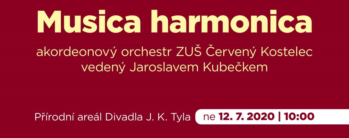 Promenádní koncert 2020: Musica harmonica